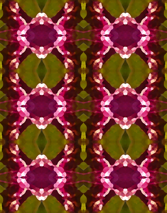 Magenta Crystal Pattern Painting