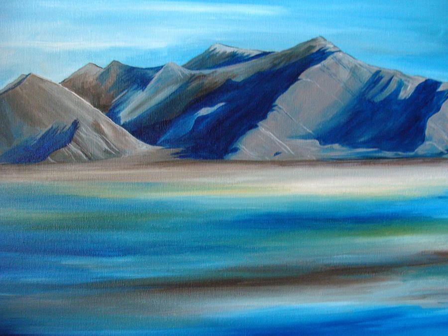 Blue Painting - Magic Mountains by Ramneek Narang