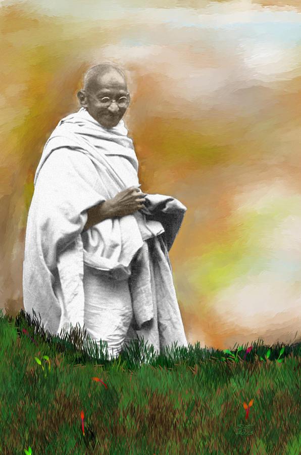 Mahatma Ghandi Photograph - Mahatma Ghandi by C A Soto Aguirre
