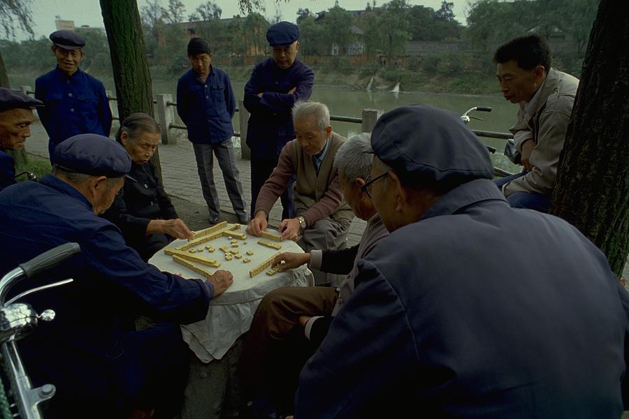 Mahjong In Guangzhou Photograph