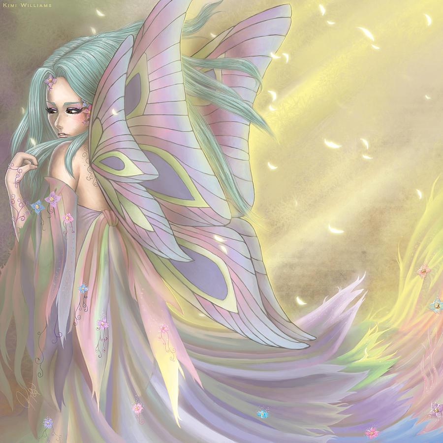Maiden Earth Fairy Faery Fairies Faeries Fae Kimi Cookie Kimicookie Digital Art - Maiden Of Earth by KimiCookie Williams