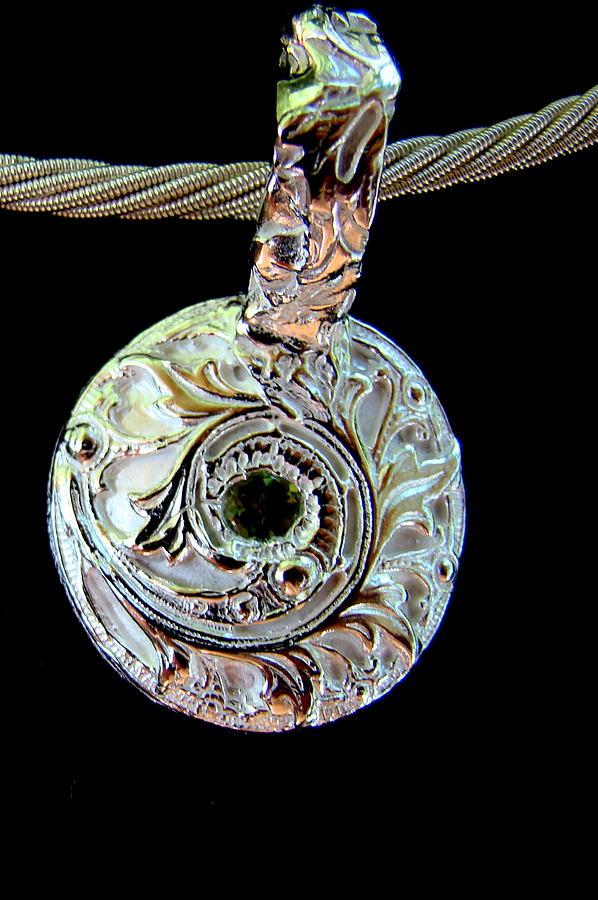 Pendant Jewelry - Maidenhair Fern Pendant by Kimberly Clark - Dragonfly Studios