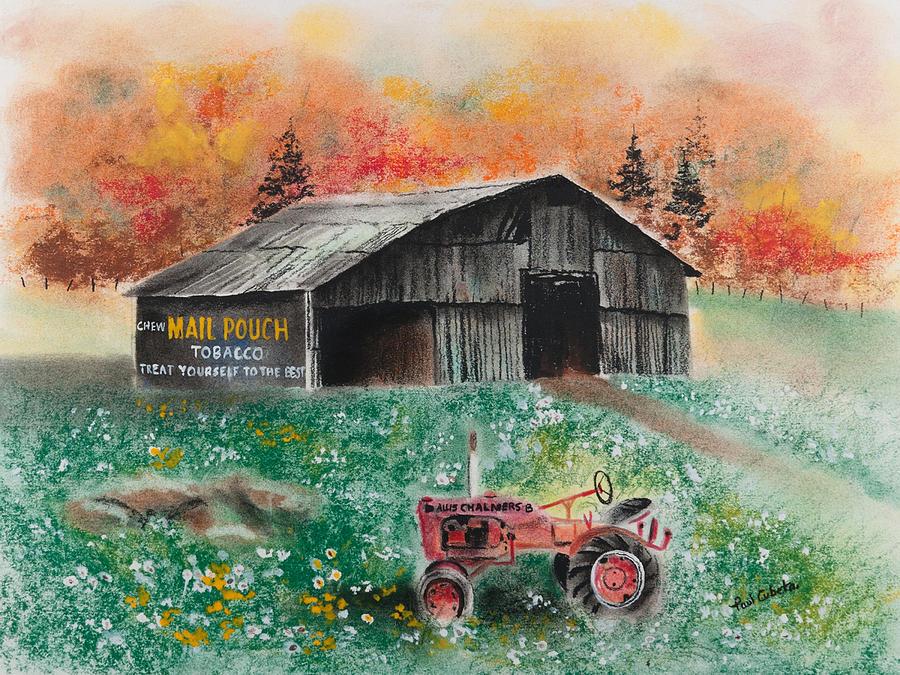 Paul Cubeta Pastel - Mail Pouch Barn West Virginia 3 by Paul Cubeta