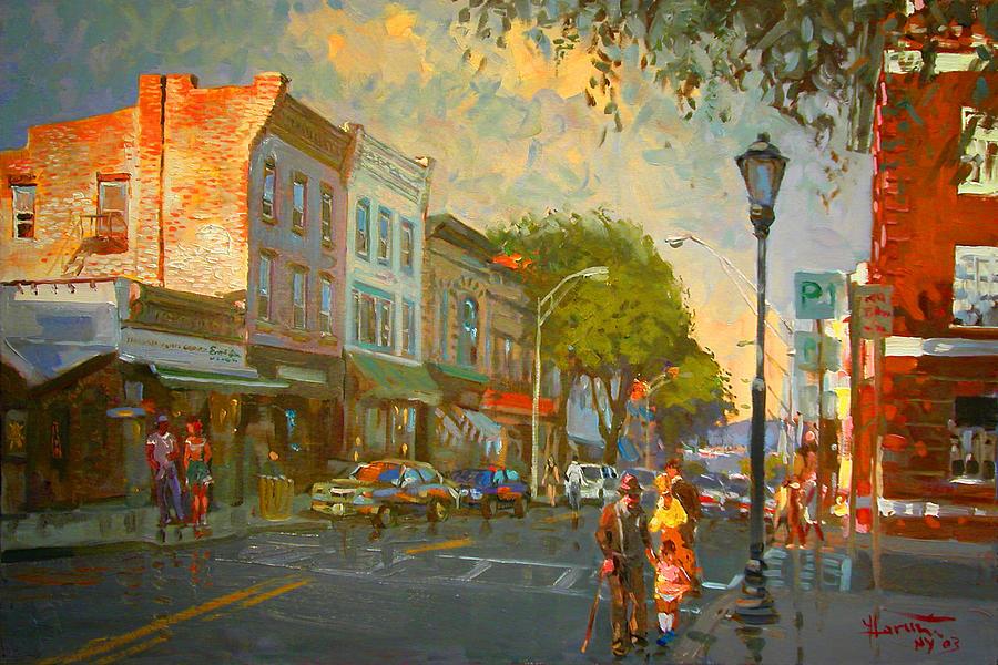 Main Street Painting - Main Street Nyack Ny  by Ylli Haruni