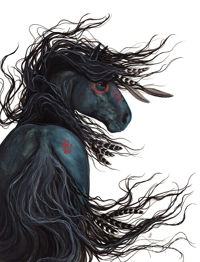 Majestic horse friesian 135 painting by amylyn bihrle - Comment dessiner spirit ...
