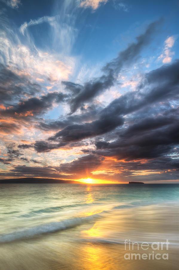 Makena Sunset Photograph - Makena Beach Maui Hawaii Sunset by Dustin K Ryan
