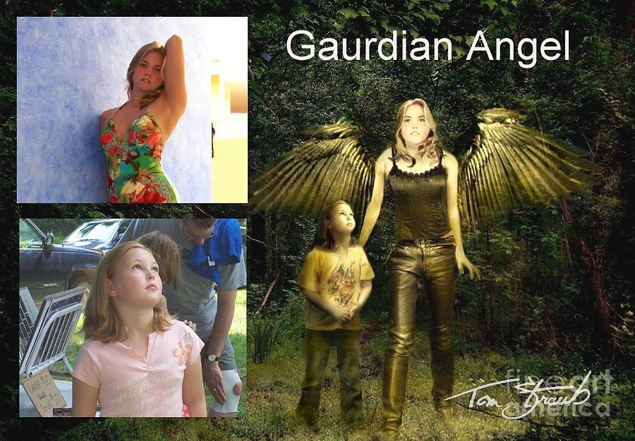 Paranormal  Photograph - making Guardian Angel by Tom Straub
