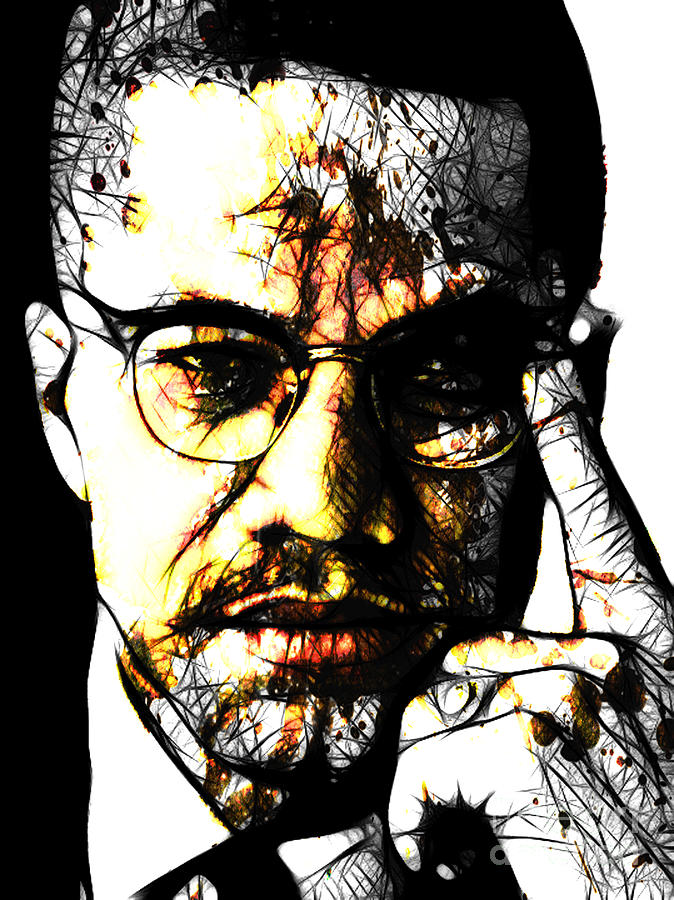 Malcolm X Digital Art - Malcolm X by The DigArtisT