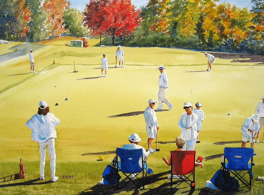 Landscape Painting - Mallet Masters by Shirley Braithwaite Hunt
