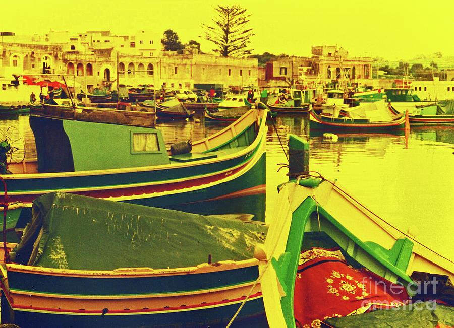 Malta Photograph - Maltese Fishing Village by Elizabeth Hoskinson