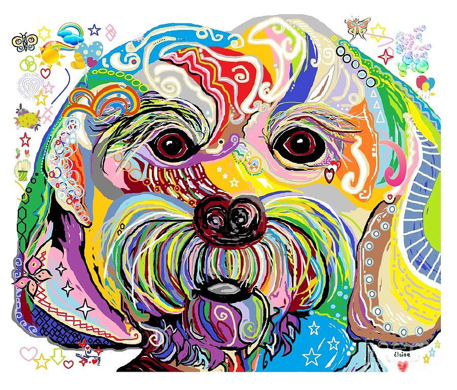 Maltese Painting - Maltese Puppy by Eloise Schneider