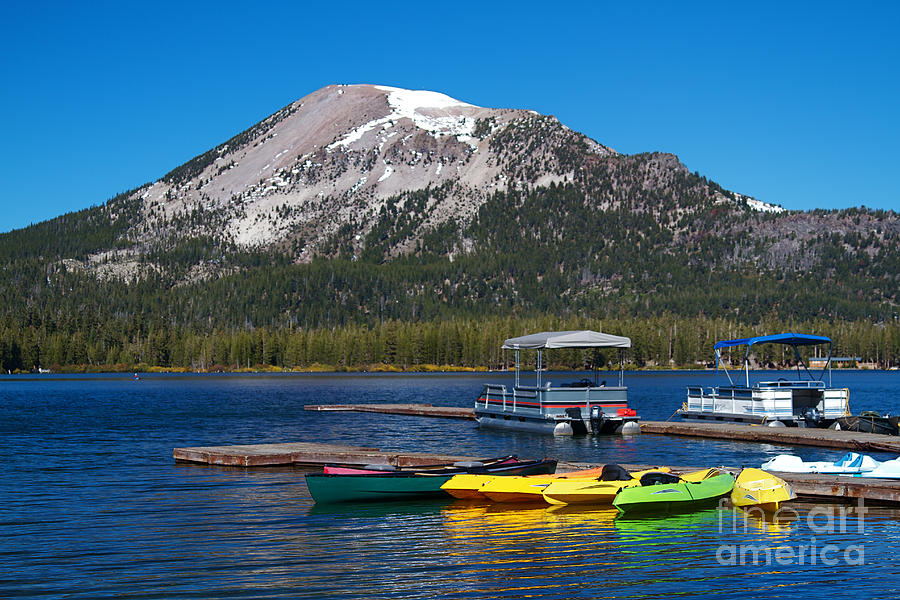 Boat Photograph - Mammoth Mountain California At Lake Mary by ELITE IMAGE photography By Chad McDermott