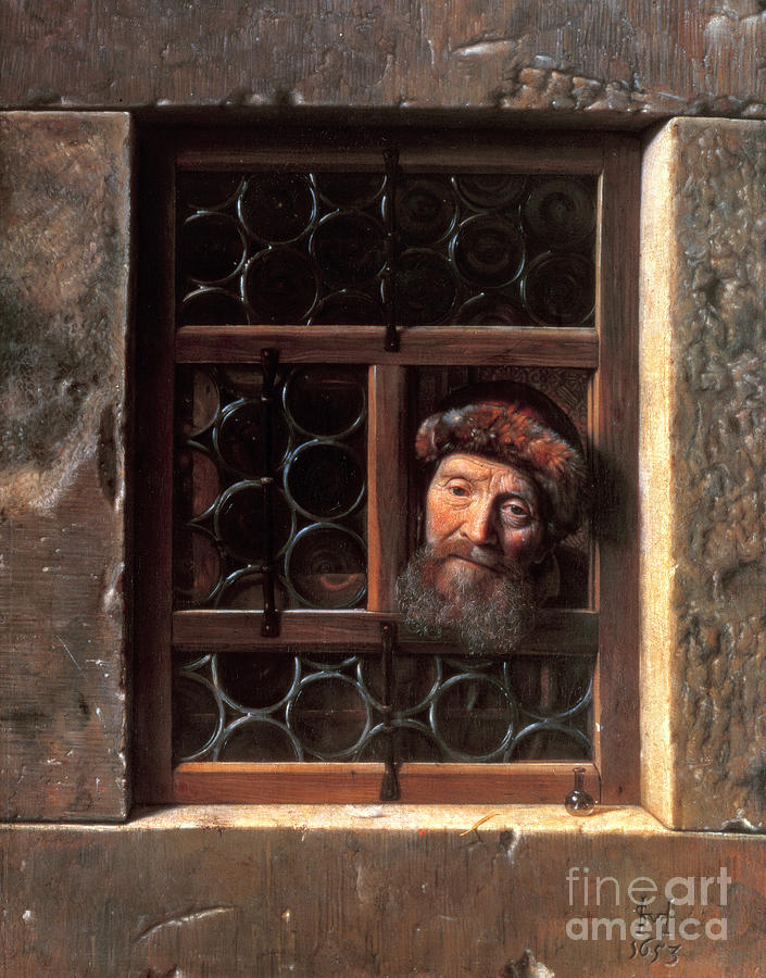 Man At A Window Painting