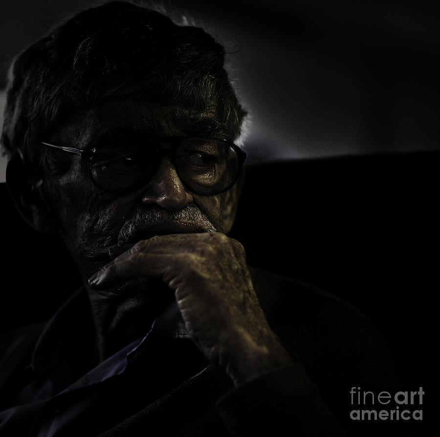 Portrait Photograph - Man On Ferry by Avalon Fine Art Photography