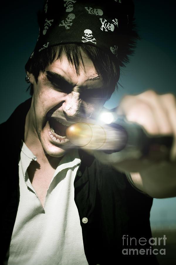 Man With Gun Photograph