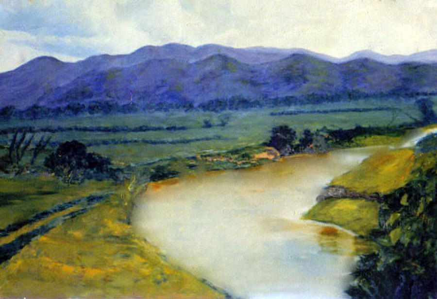 Manati Painting - Manati River by Gladiola Sotomayor