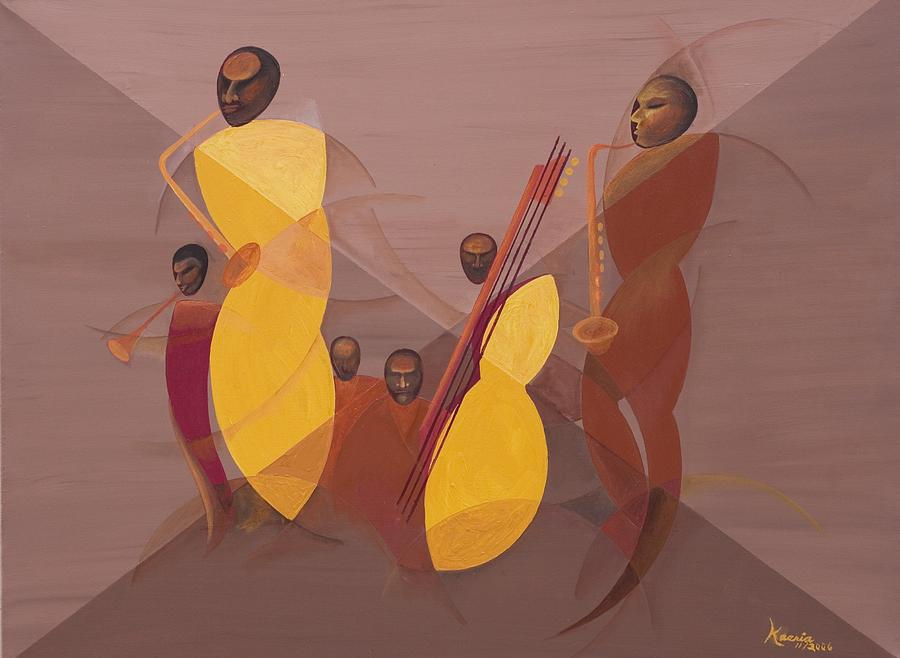 Mango Jazz Painting - Mango Jazz by Kaaria Mucherera