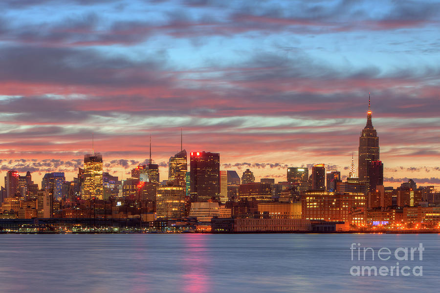 Clarence Holmes Photograph - Manhattan Dawn Skyline I by Clarence Holmes