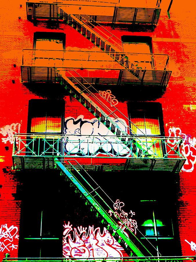 City Photograph - Manhattan Fire Escape by Funkpix Photo Hunter