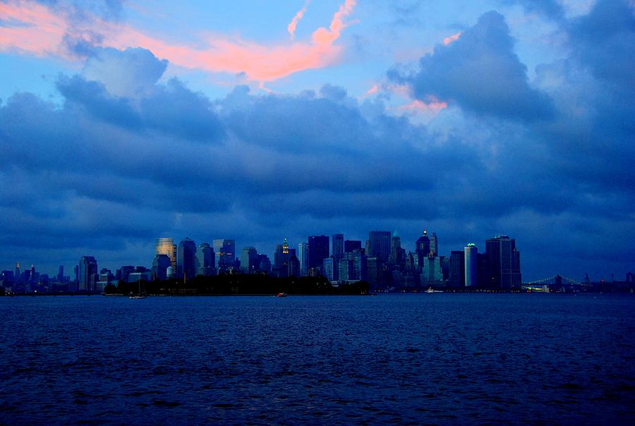 Nyc Photograph - Manhattan Skyline by Fareeha Khawaja