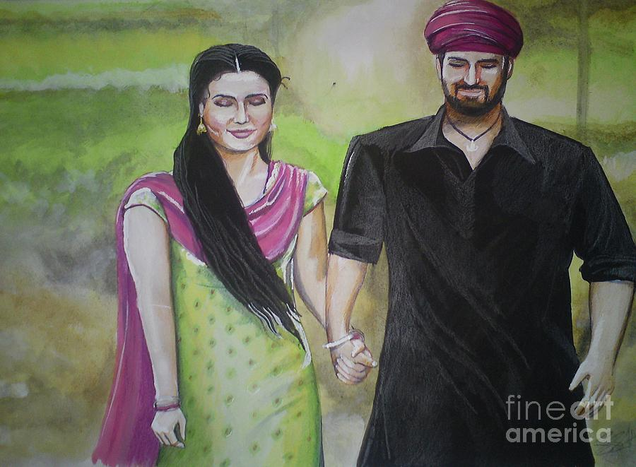 Rmy Painting - Mannata by Sandeep Kumar Sahota