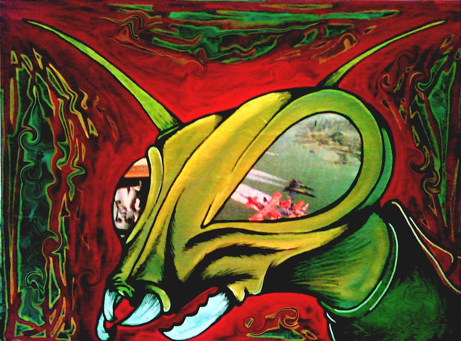 Paintings Painting - Mantis by Jeff DOttavio