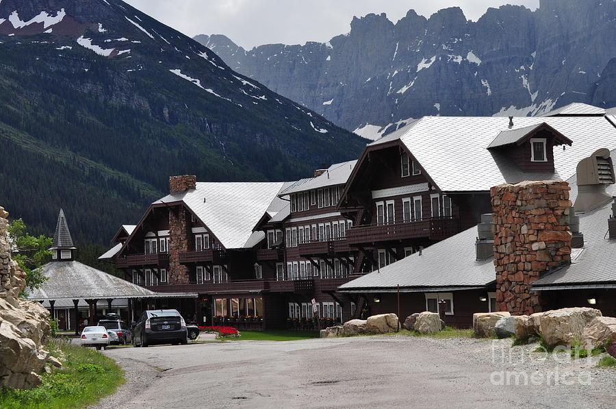 Landscape Photograph - Many Glacier Lodge by Diana Nigon