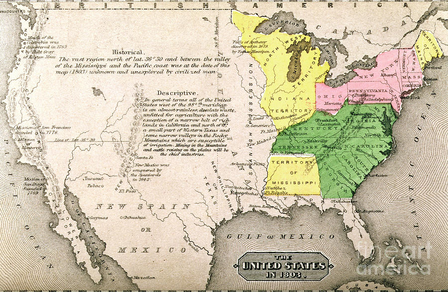 Map Painting - Map Of The United States by John Warner Barber and Henry Hare