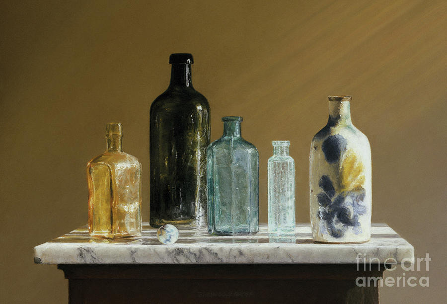 Marble Painting - Marble On Marble by Barbara Groff
