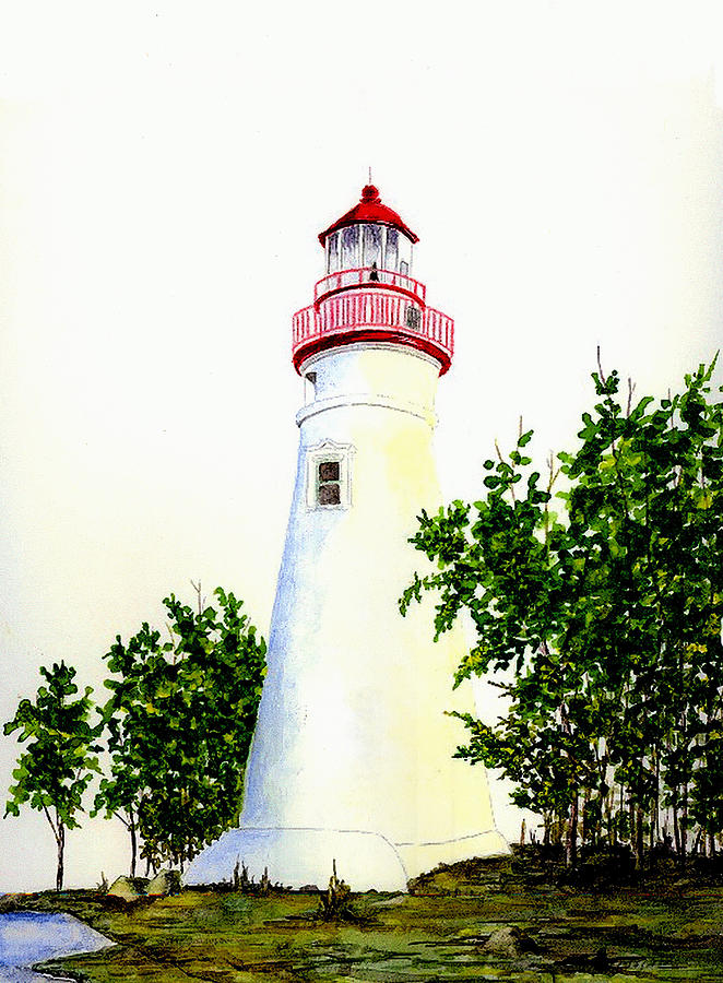 Lighthouse Painting - Marblehead Lighthouse by Michael Vigliotti