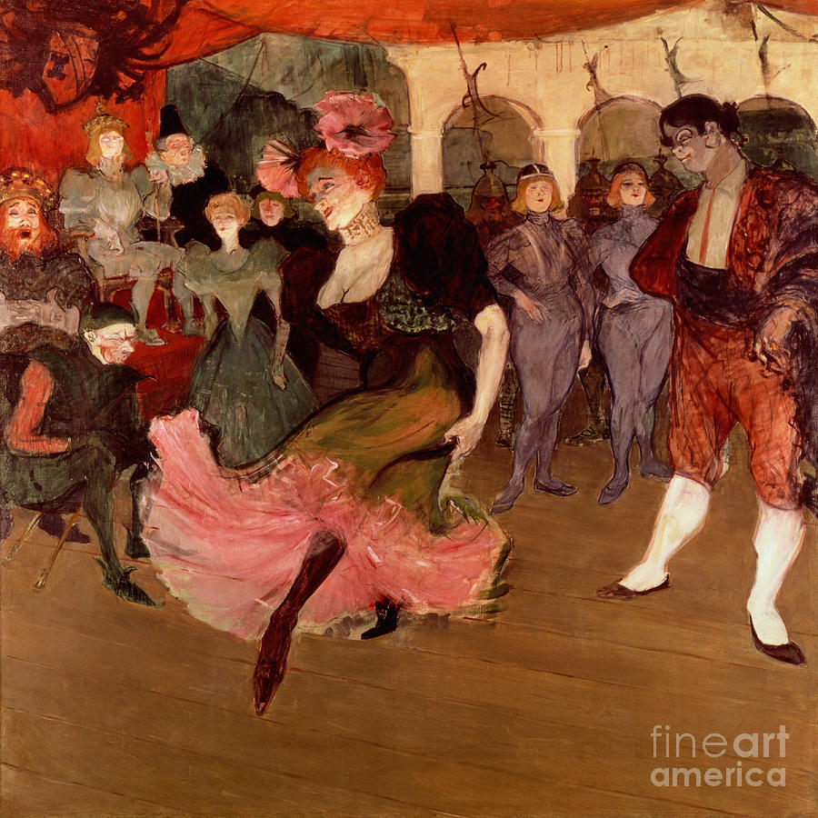 Marcelle Lender Dancing The Bolero In Chilperic Painting