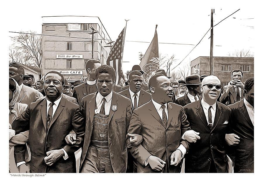 March Through Selma Mixed Media