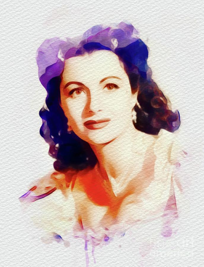 Margaret Lockwood, Vintage Movie Star Painting