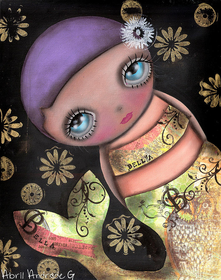 Mermaid Painting - Maria by  Abril Andrade Griffith