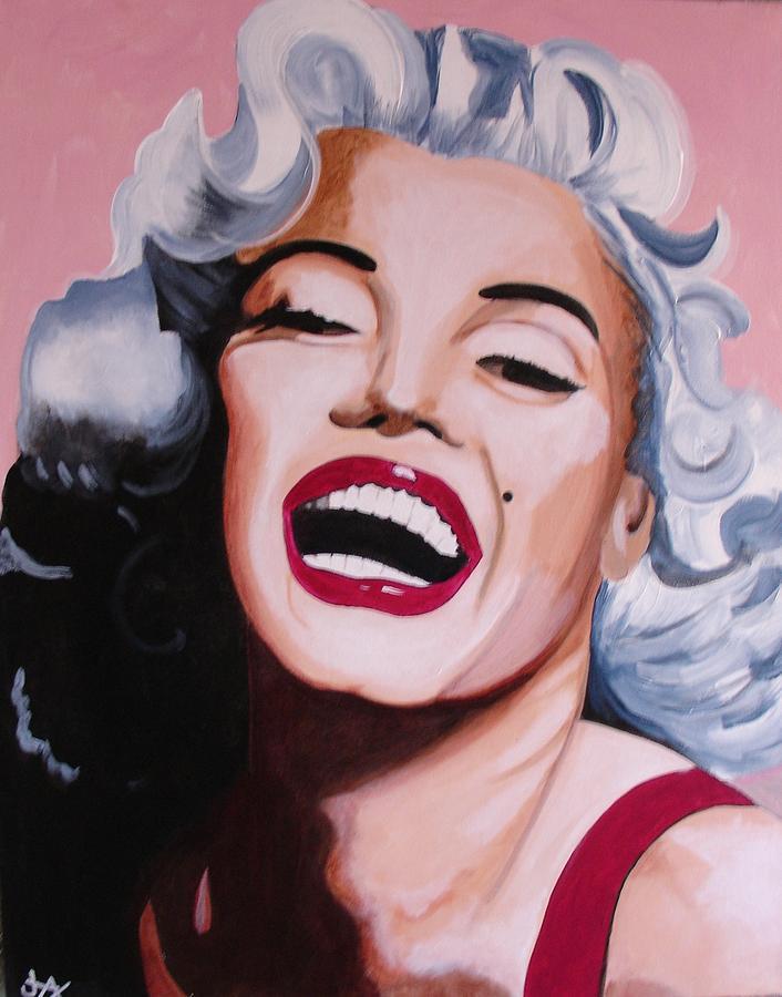 Marilyn Monroe. Woman Painting - Marilyn by Jacqui Simpson