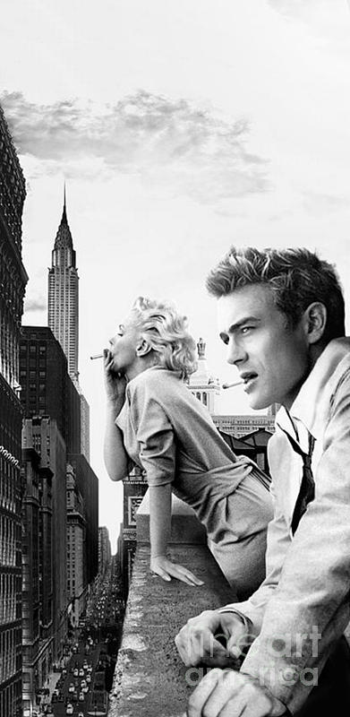 marilyn monroe and james dean new york iphone 6 plus cover case 2014 painting by brailliant. Black Bedroom Furniture Sets. Home Design Ideas