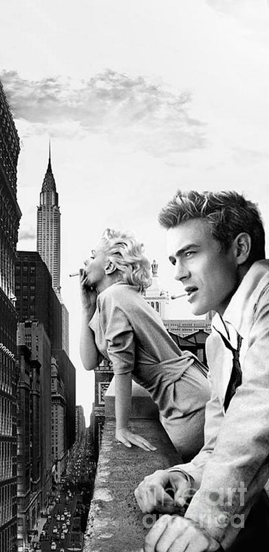 Marilyn Monroe James Dean Classic Car