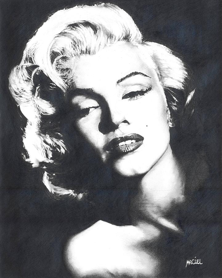 Marilyn Monroe Drawing - Marilyn Monroe by Maciel Cantelmo