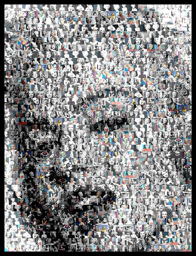 Marilyn Digital Art - Marilyn Monroe Mosaic by Paul Van Scott