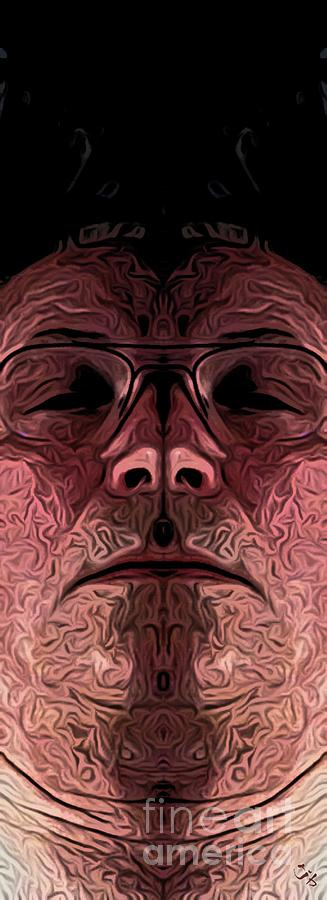 Portrait Digital Art - Marked Man by Ron Bissett