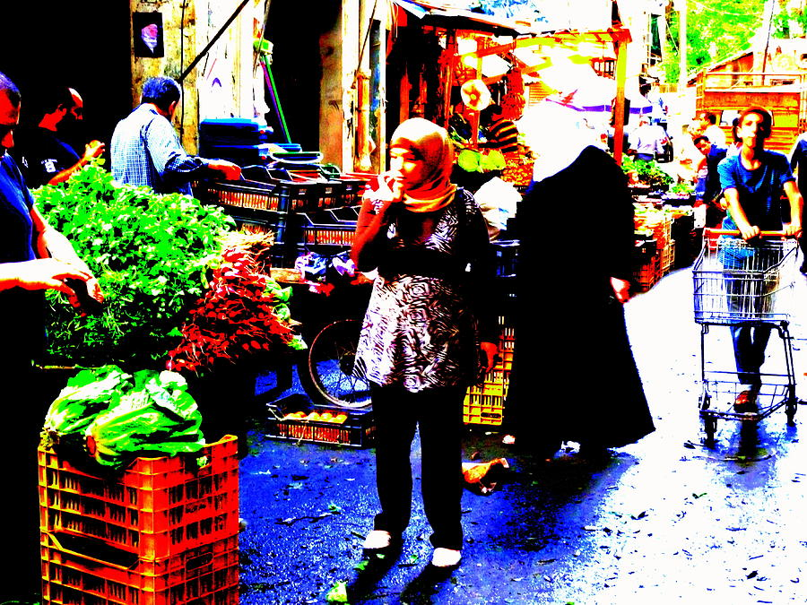 Lebanon Photograph - Market Scenes Of Beirut by Funkpix Photo Hunter