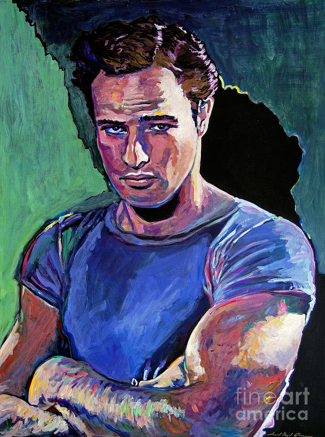 Movie Actor Painting - Marlon Brando by David Lloyd Glover