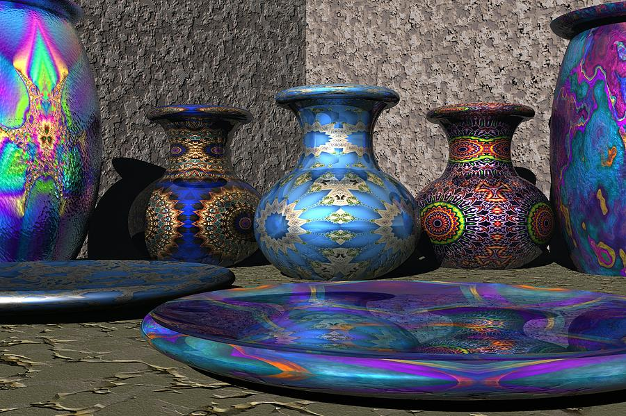 3d Digital Art - Marrakesh Open Air Market by Lyle Hatch