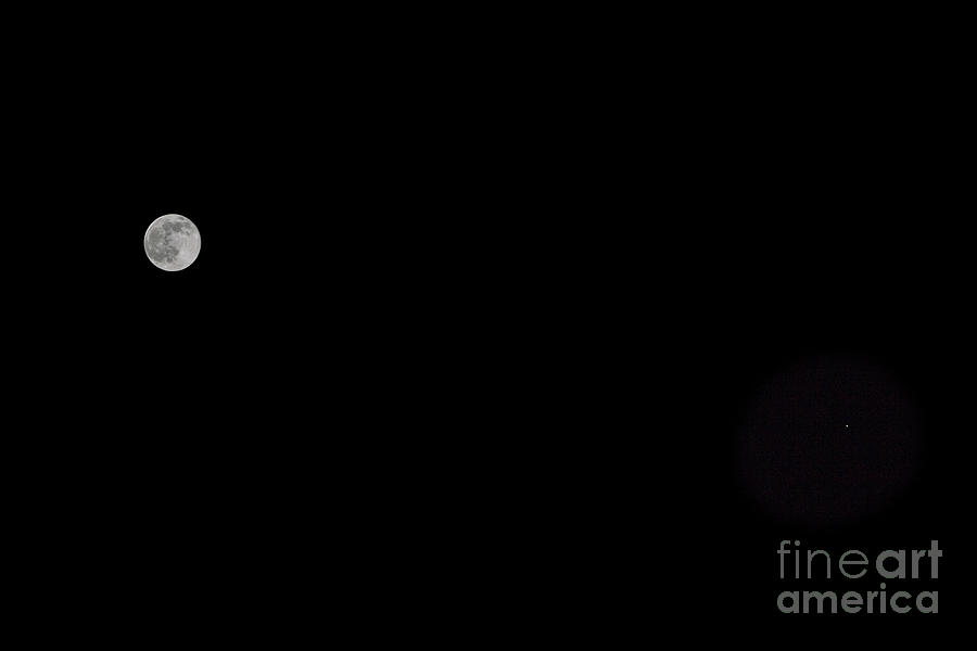 Mars And Moon Photograph
