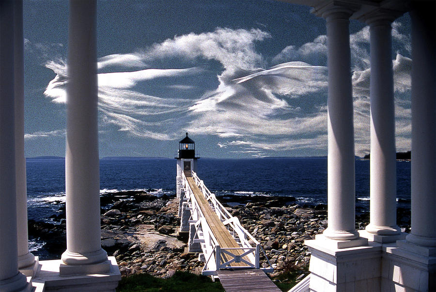 Lighthouses Photograph - Marshall Point Lighthouse Maine by Skip Willits