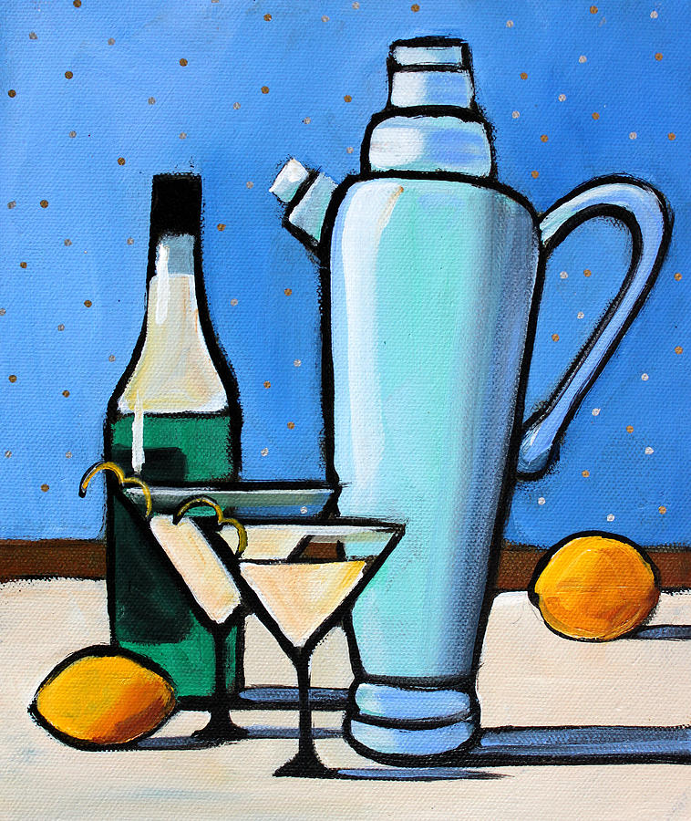 Martini Painting - Martini Night by Toni Grote
