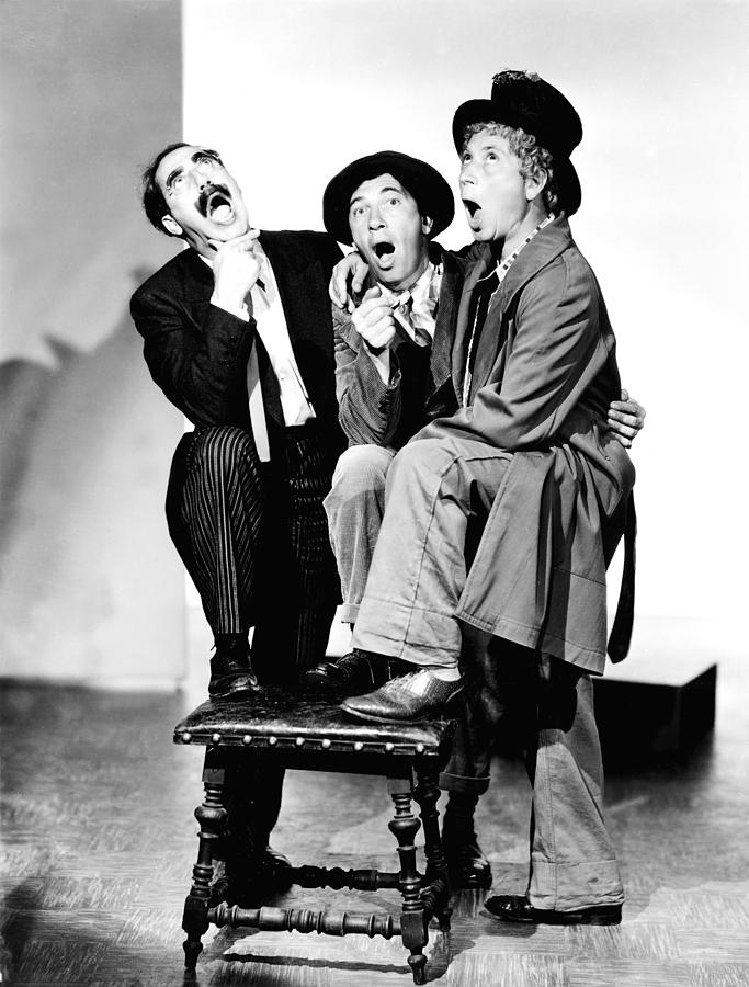 1930s Portraits Photograph - Marx Brothers, The Groucho, Chico by Everett