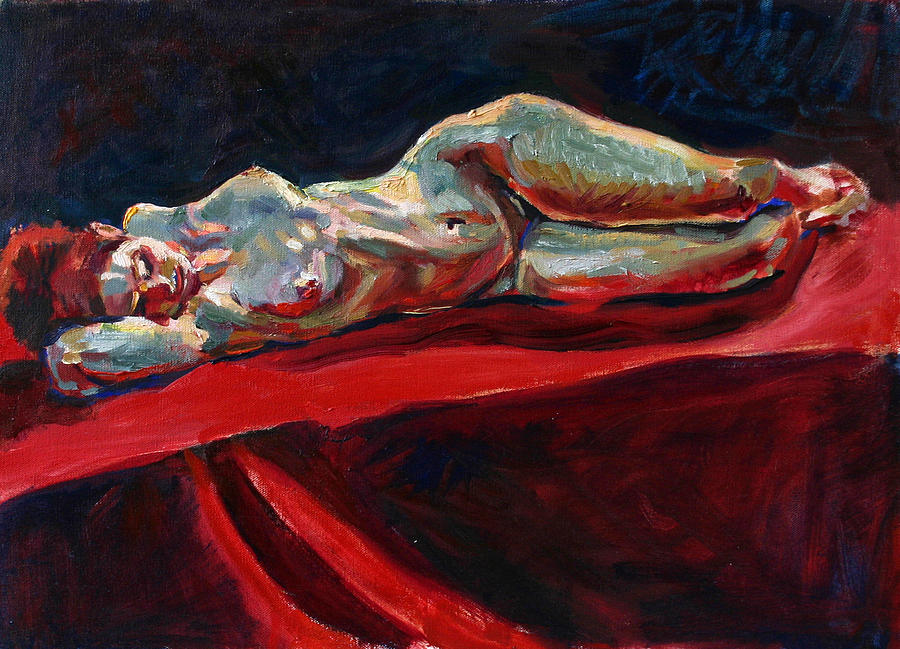 Traditional Painting - Mary - Nude - Again by Piotr Antonow