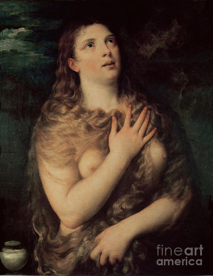 Mary Painting - Mary Magdalene by Titian