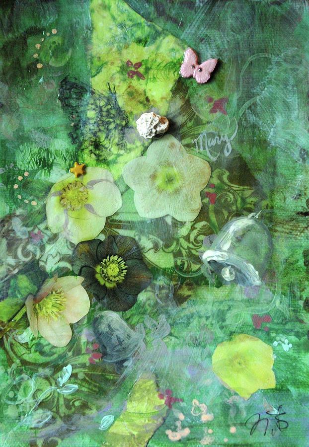 Garden Mixed Media - Mary Mary by Jennifer Kelly